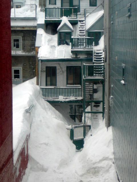 Beaucoup de neige à quebec